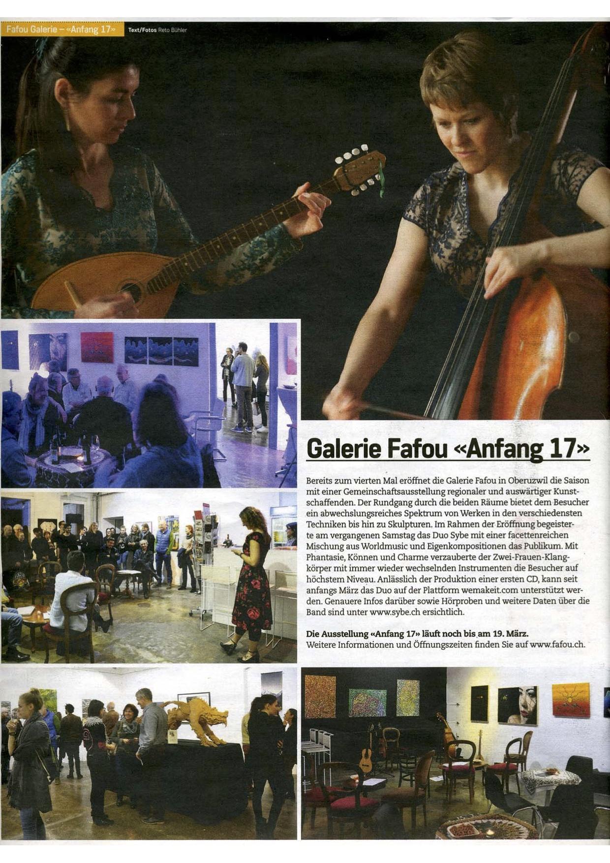 Weltmusik und Kunst in Oberuzwil